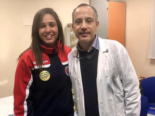 Jessica Dos Santos con il dottor Donato Panetta