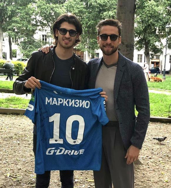 Antonio Giovinazzi e Claudio Marchisio