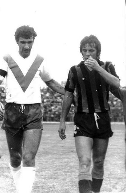 Mario Cantarelli con Boninsegna