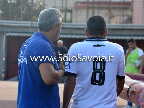 Un momento della lite tra il tecnico Squillante e capitan Liccardo