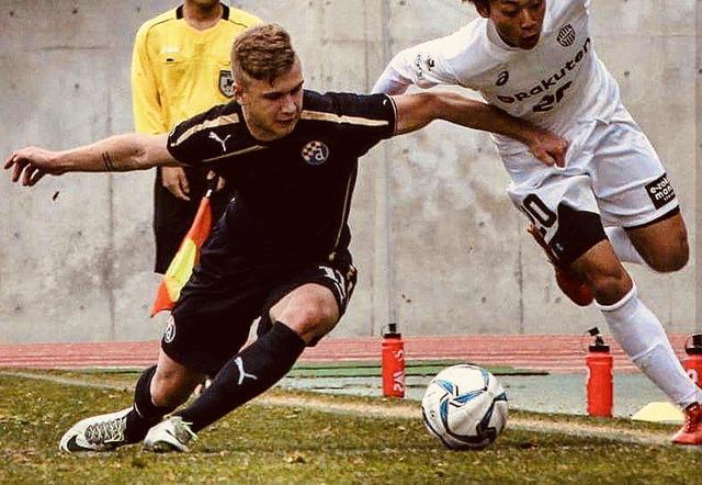 Tim Vukmanic con la maglia della nazionale croata