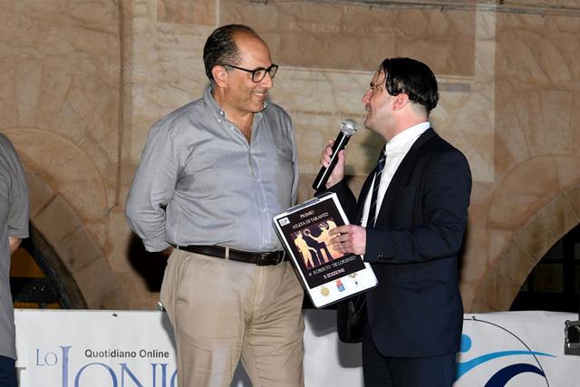 Roberto Conversano durante la serata dedicata al Premio Atleta di Taranto