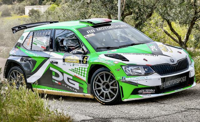 Francesco Rizzello e Fernando Sorano su Skoda Fabia R5, equipaggio vincitore della gara - Foto Leonardo DAngelo