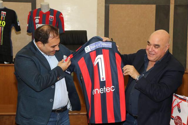 Il sindaco Rinaldo Melucci con il presidente Massimo Giove - Foto Max Todaro