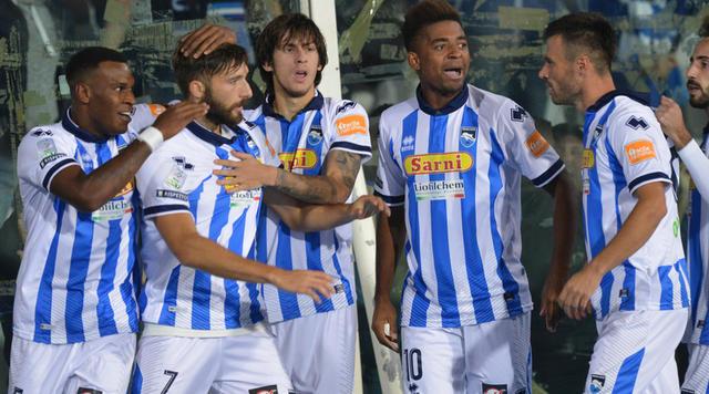 Esultanza dei calciatori del Pescara - Foto Gazzetta.it