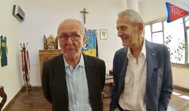 Francesco Ghirelli, presidente della Lega Pro, e Franco Metta, sindaco di Cerignola