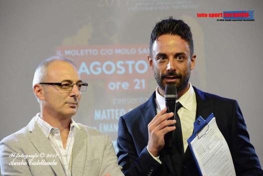 Da sinistra: Roberto De Lorenzo, patron del Premio Atleta di Taranto, e Matteo a Schinaia, storico presentatore
