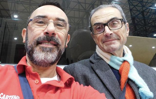Livio Cartenì (a sx) con il dottor Giuseppe Ostilio