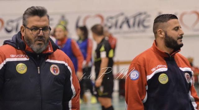 Coach Tony Marzella (a sinistra) con il vice Michele Morrone