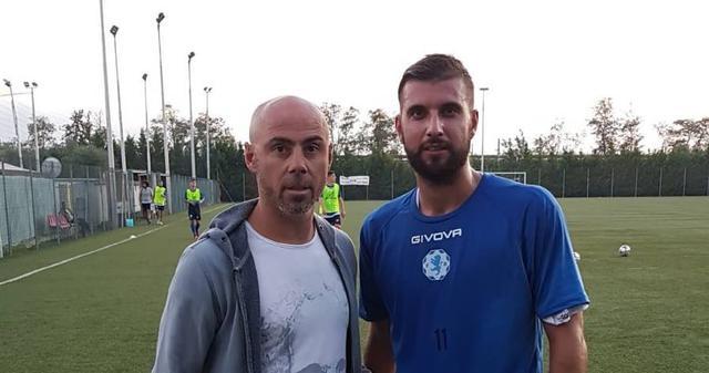 Daniel Paparusso con il diesse Fabio Moscelli - Foto Fidelis Andria Facebook