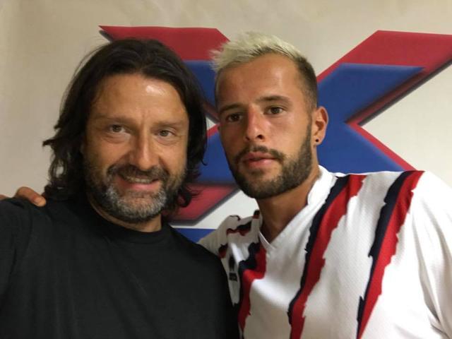Maxime Giron con il presidente Caiata