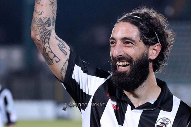 Alessandro Marotta, attaccante del Siena - Foto Siena Club Fedelissimi