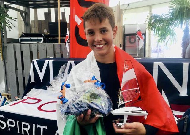 Federico Quaranta, il 13enne tarantino campione europeo di OPen Skiff