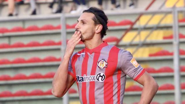 Mariano Arini, con il suo gol ha condanno il Foggia a un pesante ko