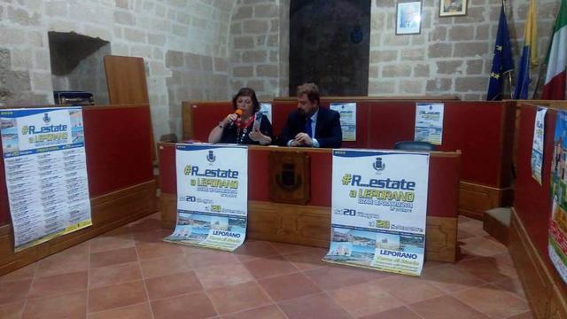 L'assessore Iolanda Lotta e il sindaco Angelo D'Abramo