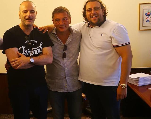 Da destra: l'ex patron Saverio Columella, l'avvocato Vitantonio Ripoli e il neo presidente Nicola Andrisani