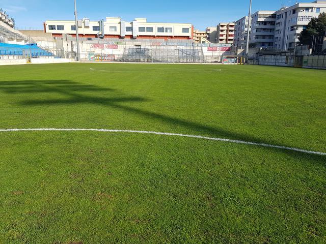 Il terreno di gioco dello stadio 'Tursi' di Martina Franca