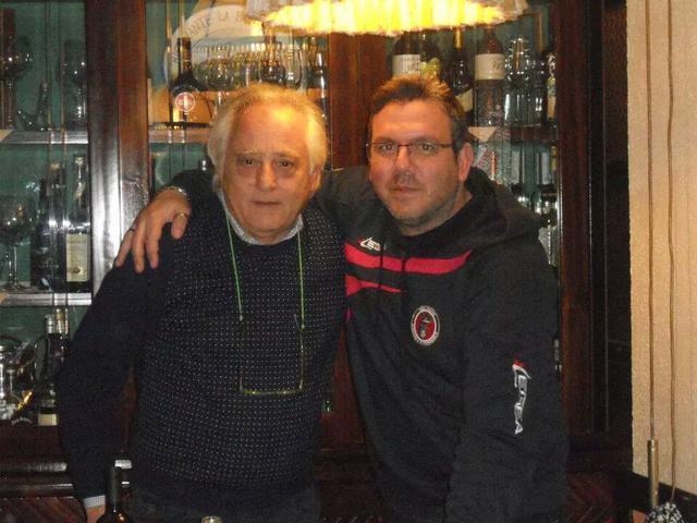 Pasquale Caramia, presidente onorario del Real Statte, con Tony Marzella