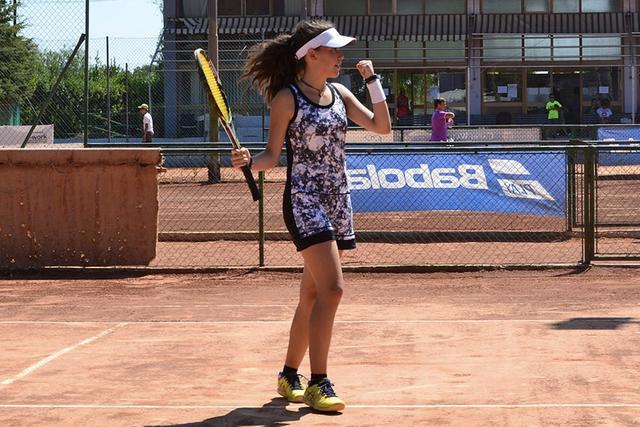 Francesca Viola esulta dopo un punto