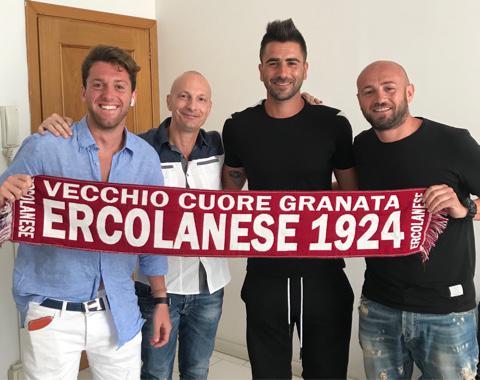 Simone Figliolia, secondo da destra, attaccante classe 1993