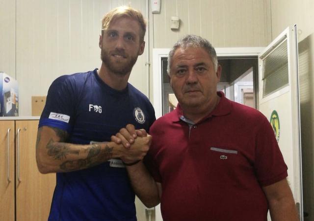 Daniele Rosanna con il presidente Pezone