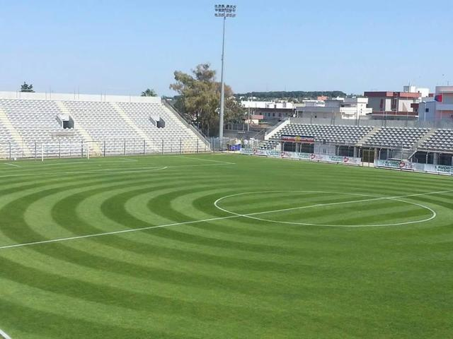 Lo stadio Capozza di Casarano
