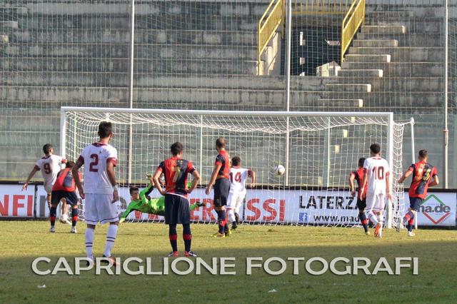Il rigore trasformato da Ciro Favetta che nella passata stagione permise alla Sarnese di espugnare Taranto