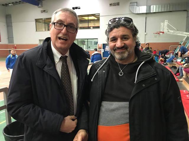 Paolo Laguardia, a dx, con Beninati, presidente Badminton Italia