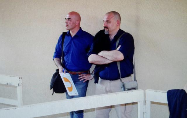 Claudio Carone con coach Caricasole