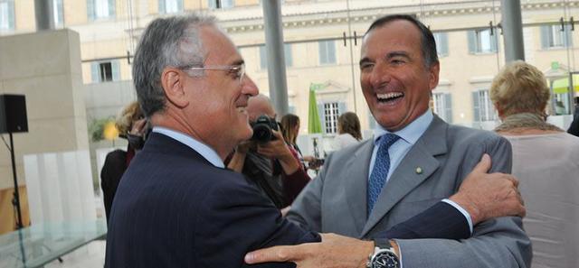 Claudio Lotito e Franco Frattini