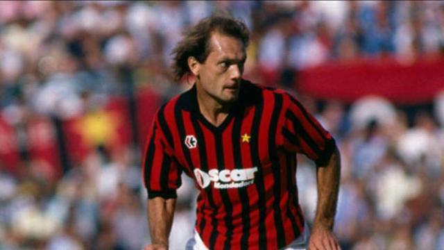 Ray Wilkins ai tempi del Milan, negli anni Ottanta