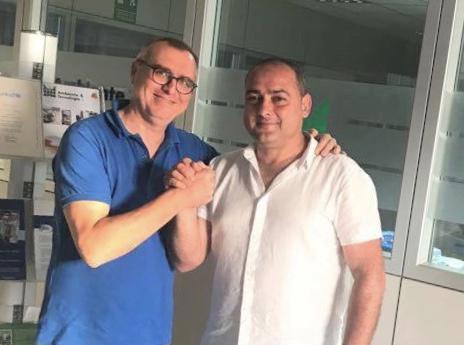 Il presidente Rossiello con Massimo Pizzulli