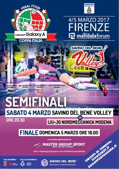Final Four di Coppa Italia – Firenze 4-5 marzo