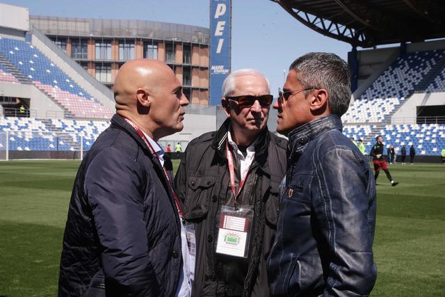 Il dg Russo assieme all'ad Carretti e al presidente Quintavalli