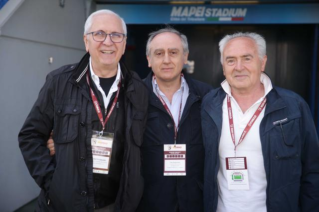 Mauro Carretti, a sinistra