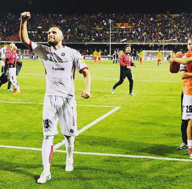 Scappini esulta con la maglia del Cittadella - foto Instagram