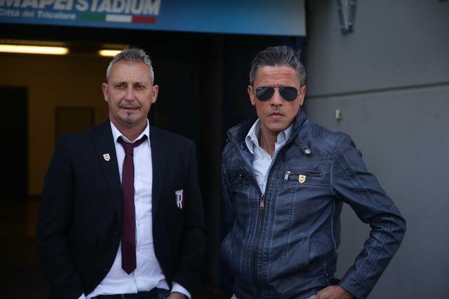 Mauro Antonioli assieme al presidente Quintavalli © Reggio Audace