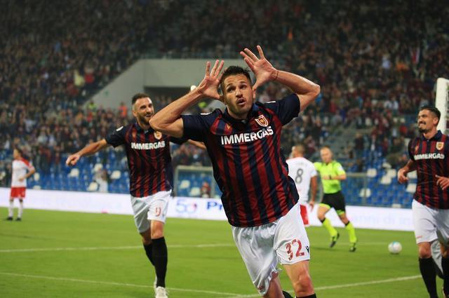 L'esultanza di Mattia Marchi dopo la rete dell'1-0 © Reggio Audace FC