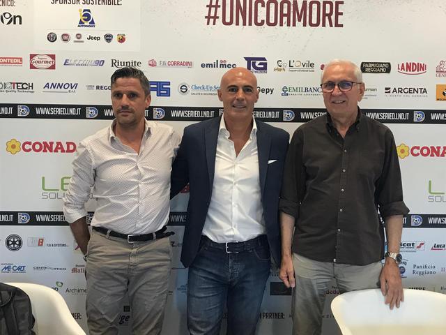 Russo (al centro) con Quintavalli (sinistra) e Carretti (destra)