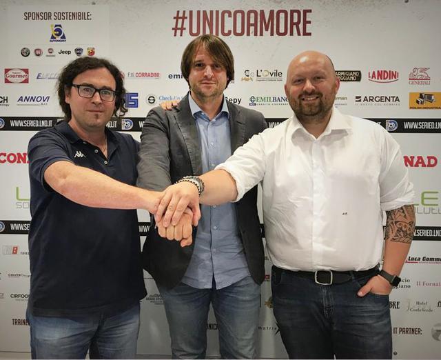 Da sinistra: Simone Rossi, Andrea Menozzi e Davide Cocchi