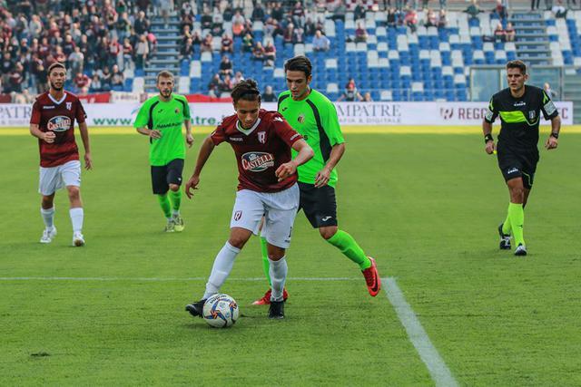 Giordano Bardeggia in azione contro il Lentigione ©Reggio Audace FC