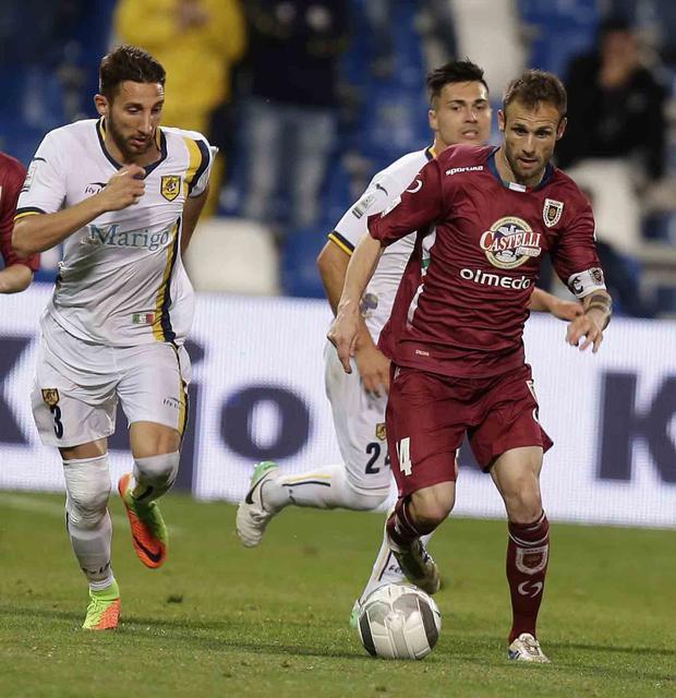 Genevier in azione contro la Juve Stabia nella scorsa stagione