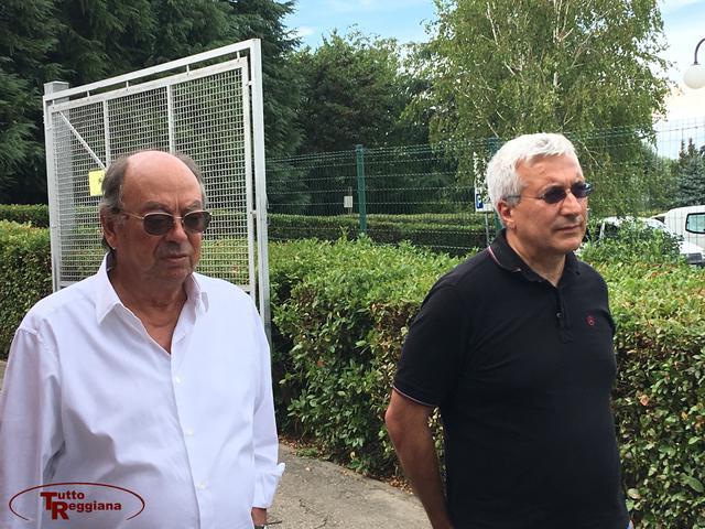 Tito Corsi con il vicepresidente Romano