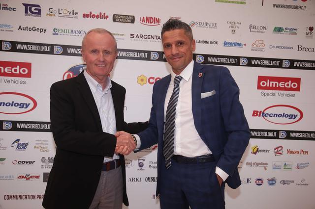 Doriano Tosi assieme al presidente Luca Quintavalli