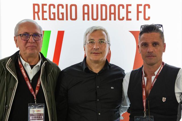 Da sinistra: l'ad Carretti, il consigliere Romano e il presidente Quintavalli