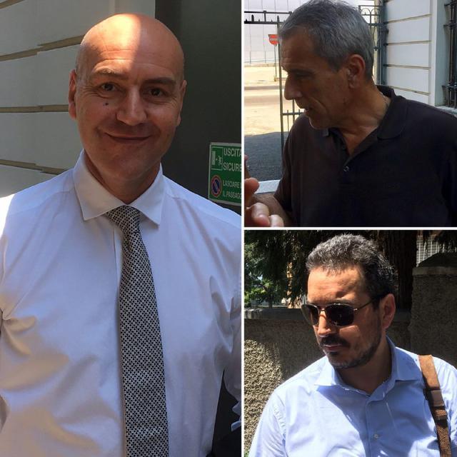 Da sinistra: Roberto, Bondavalli e Reggiani