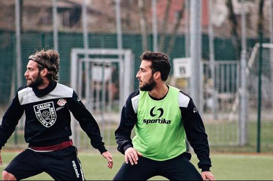 Cristian Altinier e Paolo Rozzio durante un allenamento