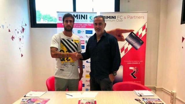 Zamparo assieme al ds romangolo Cangini © Rimini FC