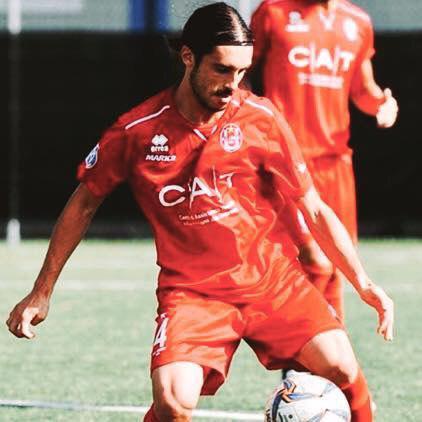 Igor Radrezza in azione con la maglia del Crema