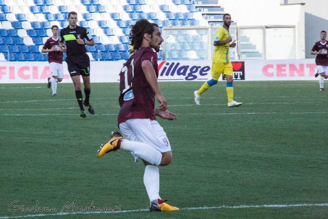 Giuseppe Ponsat in azione contro la Pergolettese © Reggio Audace FC
